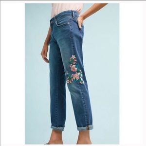 Pilcro and the Letterpress Floral Patch Jeans